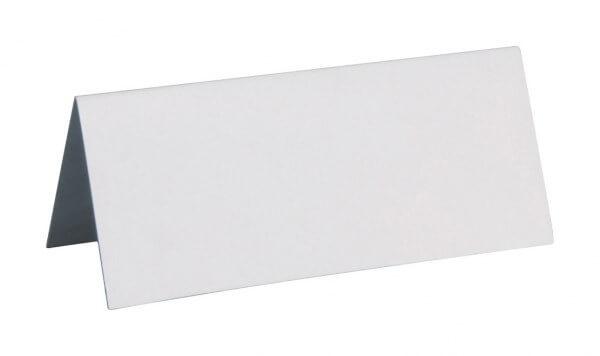 Marque-place rectangle BLANC - Lot de 10