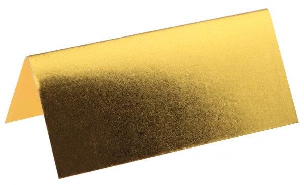 Marque-place rectangle métallisé OR - Lot de 10