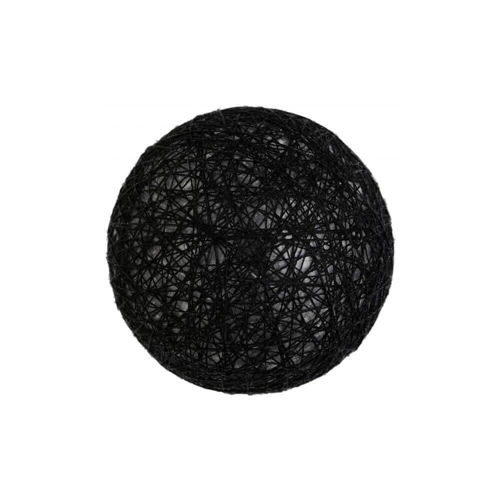 Boule Coton noir ø 5cm - Lot de 4