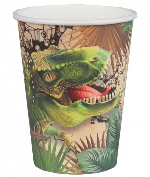 Gobelet en papier T-Rex - Lot de 10