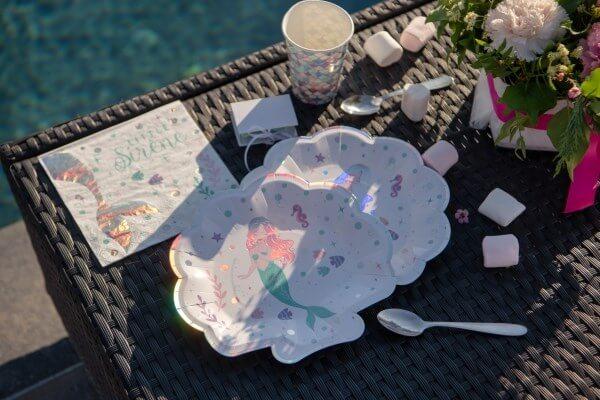 Serviette en papier Petite Sirène - Lot de 20 - 16.5x16.5cm
