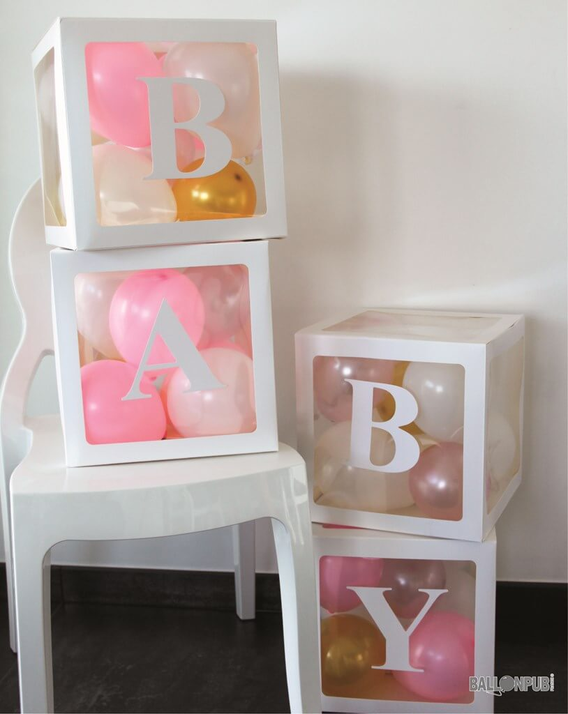 KIT 4 CUBES BABY SHOWER