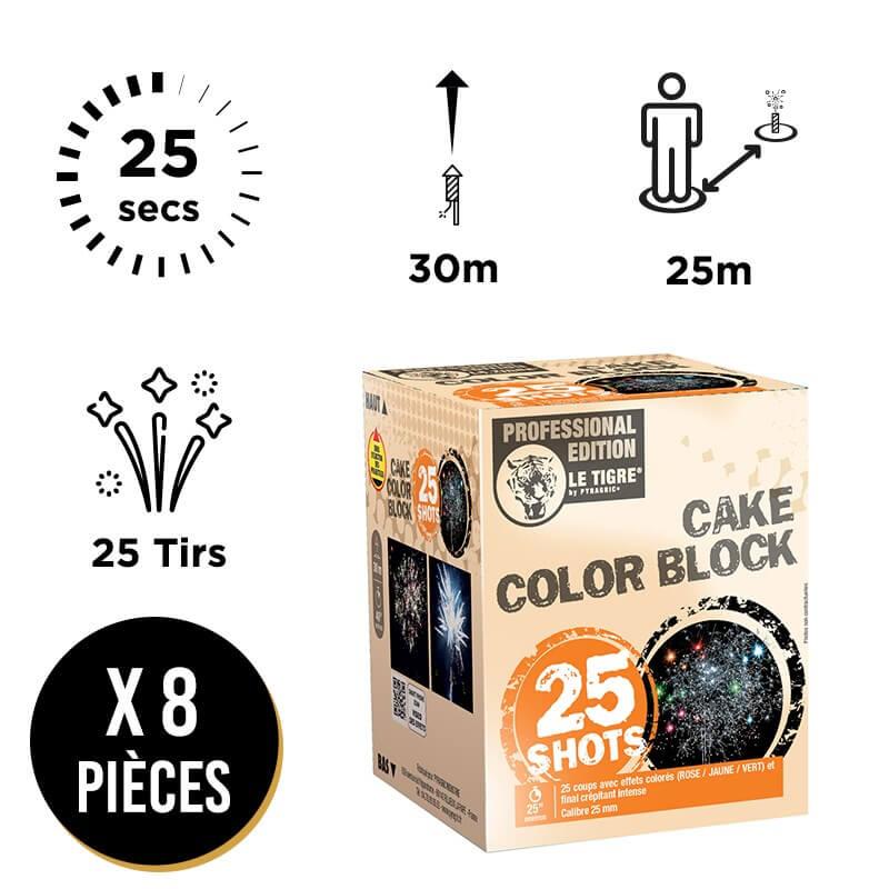 FEU D'ARTIFICE COMPACT COLOR BLOCK - LOT DE 8